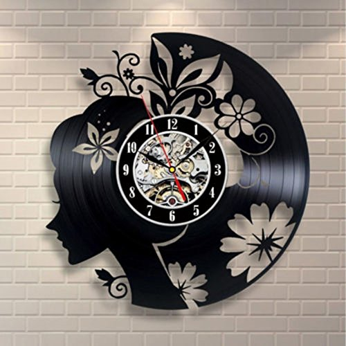 Jedfild The lovely art wall clock with Flower Girls