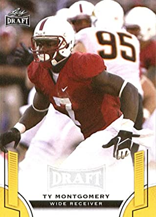 c405b1d7a Amazon.com  2015 Leaf Draft Gold  58 Ty Montgomery Stanford Cardinal  Football Card  Collectibles   Fine Art