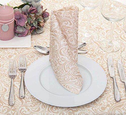 50 Mank Airlaid Ornaments Servietten Lias weiß 40x40 cm Stoffoptik Hochzeit