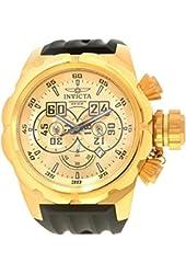 Invicta Men's Russian Diver Black Silicone Band Steel Case Quartz Gold-Tone Dial Analog Watch 21628
