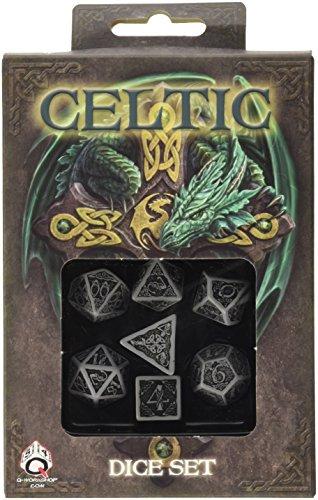 Q-Workshop QWOCER12 - Celtic 3D Dice, Brettspiel, grau/schwarz