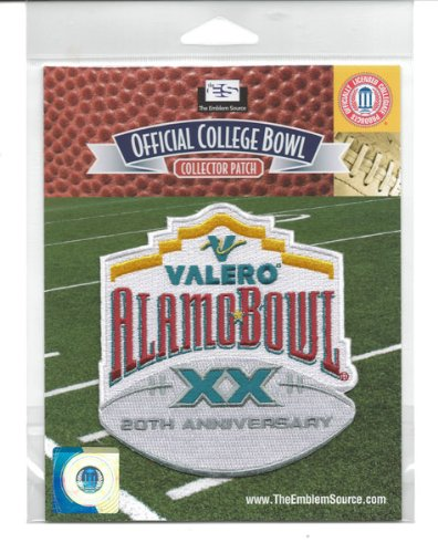 2012 Valero Alamo Bowl Game NCAA Jersey Patch 20th Anniversary (San Antonio) Texas vs. Oregon State 20th Anniversary Patch
