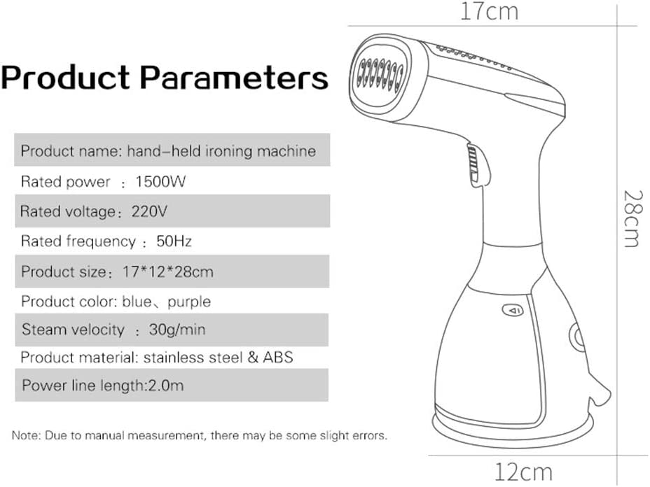 May Steam Fast Garment Steamer for Clothes Remove Wrinkles//Steam//Soften//Clean Fast-Heat Safe Ironing 280ml 1100V Powerful 7-1 Fabric Steamer for Home//Travel
