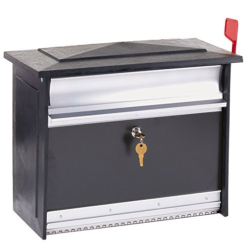 Durable Aluminum X-Large Black Mailsafe Lockable Security Mailbox With Mail Slot For Incoming Or Outgoing - Coupon Mail Frames By