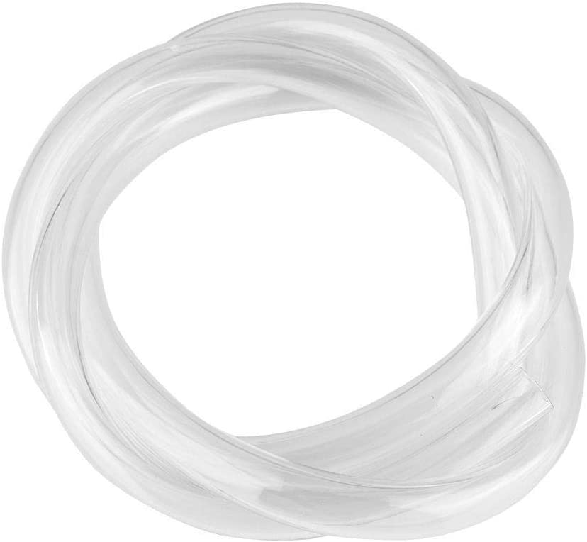 "Yoidesu OD 13mm (1/2"") x ID 10mm (2/5"") Water Cooling Tube,Pipe,Transparent Water Cooling Soft PVC Tube Tubing Hose for PC Computer CPU Water Cooling System,1M,Clear"
