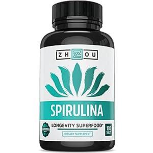 Zhou Nutrition Spirulina Tablets, 180 Count