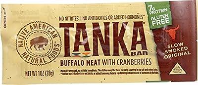Tanka Bar,natural Buffalo Cranberry Bar, 28 g (Pack of 12)