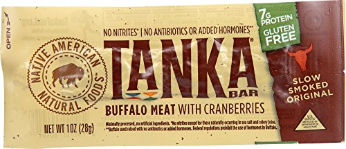 Tanka Bar, Natural Buffalo Cranberry Bar, 1-Ounce Bar (Pack of 12 bars)