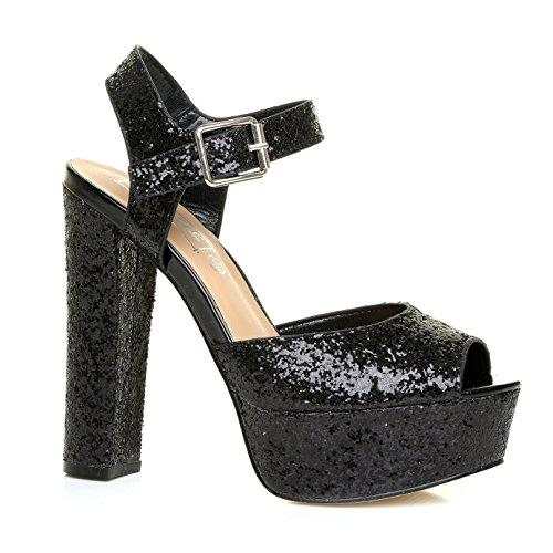Mizzshuzz - Zapatos de tacón  mujer negro