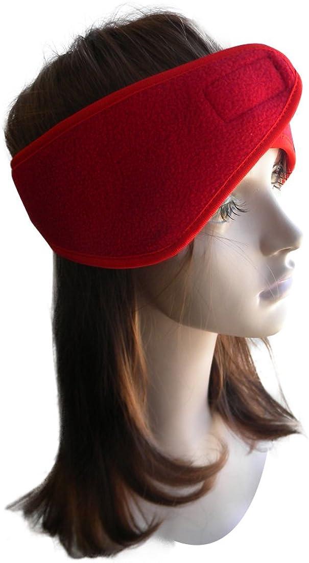 Dark Red Fleece Ear Muff Head Wrap with Velcro Closure Winter Earmuff Lots of Colors