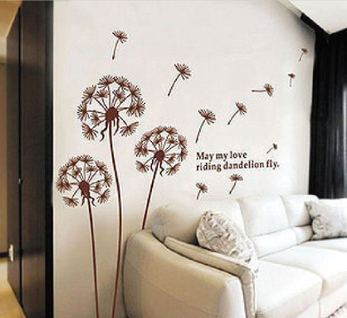 US fashioneer Hunnt Dandelion Nursery Kids Room Removable Quote Vinyl Wall Decals Stickers (X Large)
