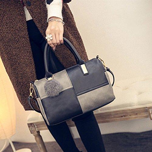 Bags Classic Tote juqilu PU Splice Simple Messenger Ladies Shoulder Handbag Women's Elegant wSOSP