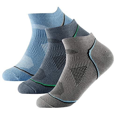 Men's Casual Cotton Low Cut Socks Comfort Fit No-Show Socks 3 Packs Mix Color ()