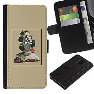 All Phone Most Case / Oferta Especial Cáscara Funda de cuero Monedero Cubierta de proteccion Caso / Wallet Case for Samsung Galaxy S5 Mini, SM-G800 // Pensamiento de la mujer