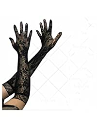 GOOTRADES Women's Vintage Stretch Lace Elbow Length Gloves