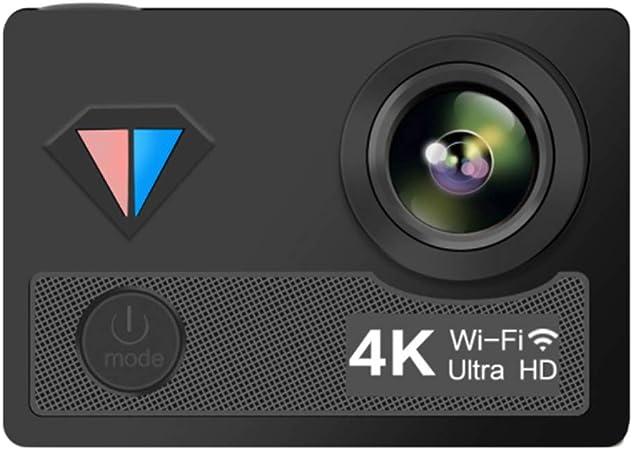 XRQ Cámara Deportiva cámara de Buceo al Aire Libre 4K HD a Prueba de Agua DV1600 Millones de Material ABS Pantalla LCD HD de 1 Pulgada,Negro: Amazon.es: Hogar