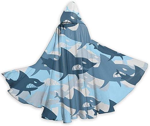 Mitta Yane Hooded Cape Disfraz de tiburón de Cuerpo Entero Patrón ...