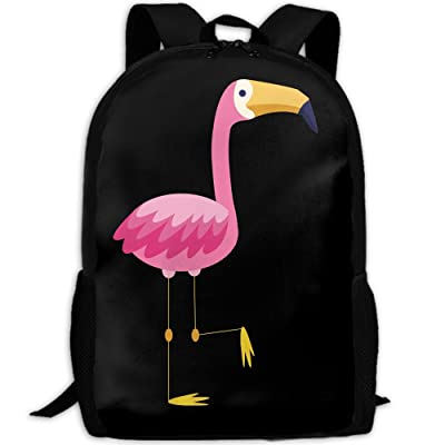 lovely Mossey Raymond Fashion Shoulders Bag Backpack Multipurpose Daypacks for Adult - Flamingo Hello July Teal
