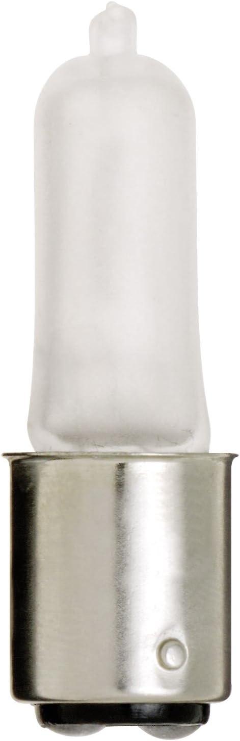 Satco S1920 120V 100-Watt T4 DC Bayonet Base Light Bulb, Frosted