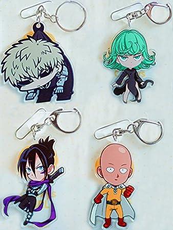 Keychain Anime One Punch Man Saitama Genos Tatsumaki Sonic