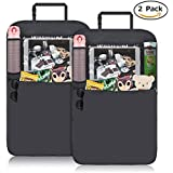Car Back Seat Protector,Creativecase Car Back Seat Organizer,Waterproof Auto Kick Mat Seat Protectors for Baby Accessories-2 Pack