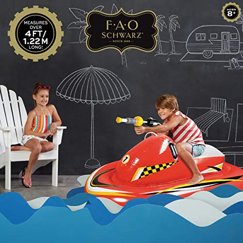 FAO Schwarz Inflatable Ride-On Pool Float with Integrated Water Blaster, Watercraft, Pump Action for - http://coolthings.us