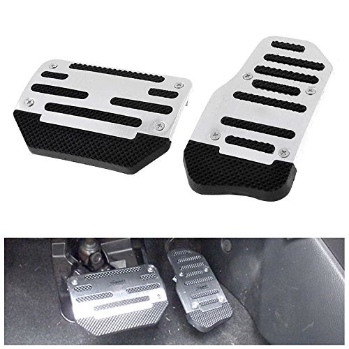 Slip Pedals Anti Sports (FLY5D Universal Racing Sports Non-Slip Auto Car Brake Accelerator Pedal Pad Vehicle Automatic AT Car (Silver))