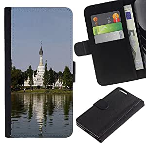 All Phone Most Case / Oferta Especial Cáscara Funda de cuero Monedero Cubierta de proteccion Caso / Wallet Case for Apple Iphone 6 PLUS 5.5 // Chinese Garden