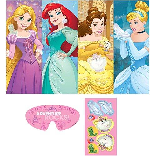 Amscan Disney Princess Dream Big Birthday Party Game (3 Piece), Multicolor, 37 1/2