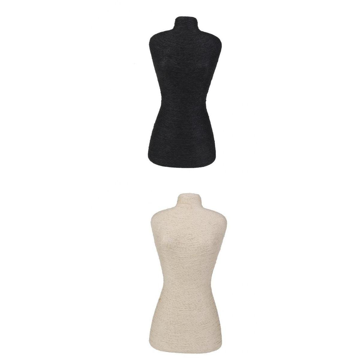 MagiDeal Female Dress Form Mannequin Body Torso Black Beige