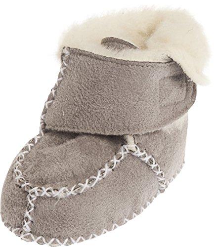 Playshoes Babyschuhe In Lammfell-optik - Zapatillas de casa Bebé-Niños Gris - Grau (Grau 33)