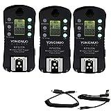 Yongnuo 3pcs Rf-605 LCD Wireless 2.4ghz Flash Trigger Transceivers for Nikon D800e D800 D700 D600 D300s D90 D40 D50 D60 D40x D300 D200 D2x D2h D2hs D100 D4 D3x D3s D3 Rf-603 Rf-602 Receive Speedlite Light Dslr Camera