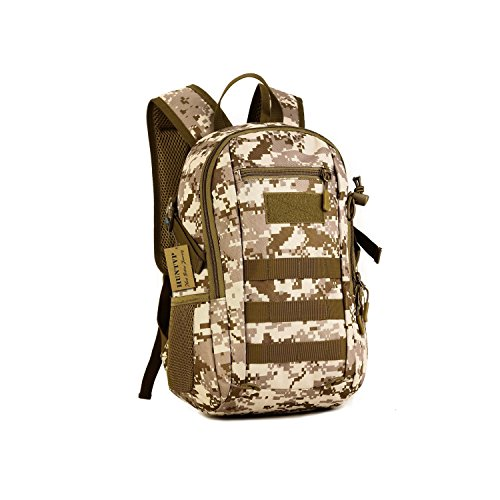 SUNVP 12L Mini Daypack Military MOLLE Backpack Rucksack Gear Tactical Assault Pack Student School Bag for Hunting Camping Trekking Travel