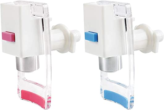 Household Office Plastic Push Handle Water Dispenser Replacement Tap Faucet 2pcs
