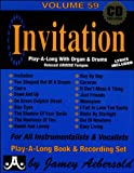 Vol. 59, Invitation: Play-A-Long With Organ & Drums (Book & CD Set)