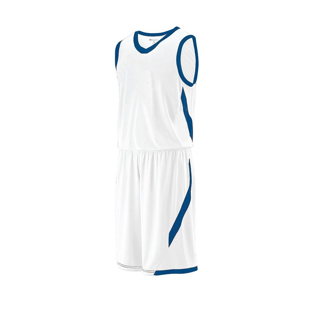 Holloway Youth Lateral Dry Excell Basketball Jersey (Youth Large, White/Royal) by Holloway