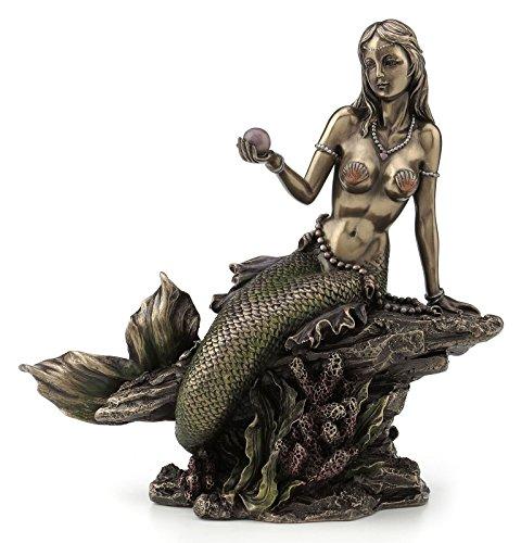 JFSM INC Mermaid Holding Pearl Sculpture Figurine ()