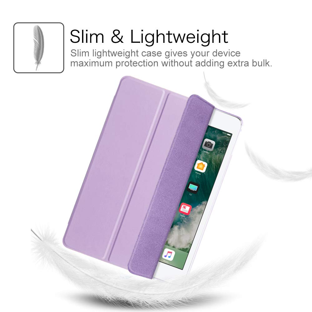 FINTIE Case with Pencil Holder for iPad 9.7 2018//2017 Lightweight Slim Shell Cover with Translucent Frosted Back Protector Supports Auto Wake//Sleep for Apple iPad 6th//5th Gen 9.7 Inch Autumn Love