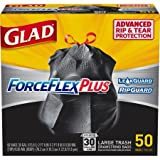 Glad Dual Defense Large Drawstring Trash Bags - 30 Gallon - 50 Count (4 pack(50 Count))