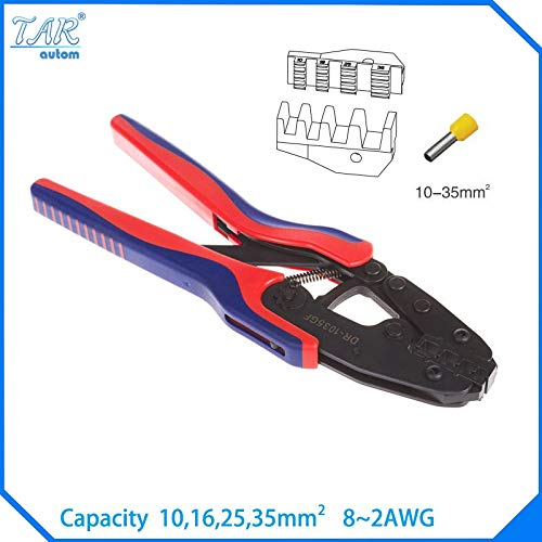 10,16,25,35mm Super Strength-Saving Crimping Pliers Ratchet Crimping Tool Insulated and Non-insulated cable end-sleeves DR1035GF