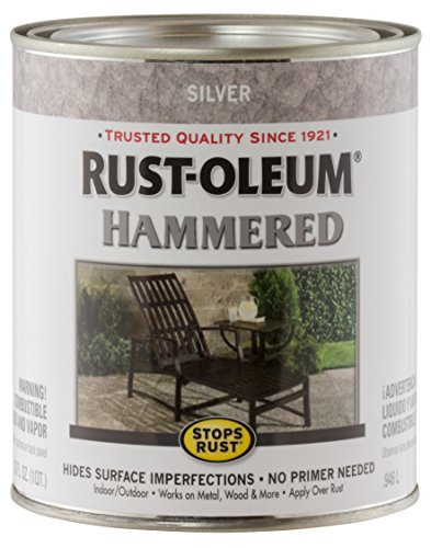 Rust-Oleum 7213502 Hammered Metal Finish, Silver, 1-Quart (Packaging may vary)