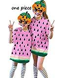 UNIFACO Kids Girls Cosplay Halloween T Shirt Dress Watermelon Festivel Short Sleeves Style 9-10