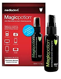 MediaDevil Magicpotion Anti-Bacterial Screen & Lens Cleaning Spray Fluid Kit: 50ml (1 x Pack) with Microfibre Cloth