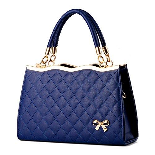 Donna moda borsetta borsa a tracolla diagonale package, blu scuro