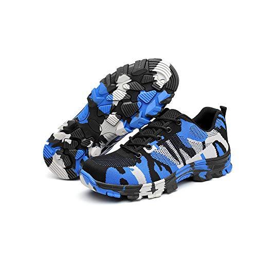 Puncture Blue Shoes Industrial Shoes Qz09 ZC Proof amp;Construction Work Steel Unisex Shoes Safety Toe xpBBWFO8wq