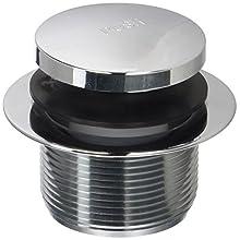 Westbrass D3322-26 1-1/2-Inch NPSM Coarse Thread Tip-Toe Bath Drain, Polished Chrome