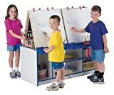 4 Station Easel - Green - School & Play Furniture