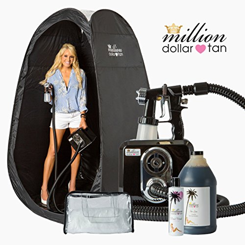 Spray Tan System - Tan Icon LITE by Million Dollar Tan - Pro/Home Sunless Tanning Kit includes Equipment, Solution, Tent, Accessories & Full Training and Support by Million Dollar Tan