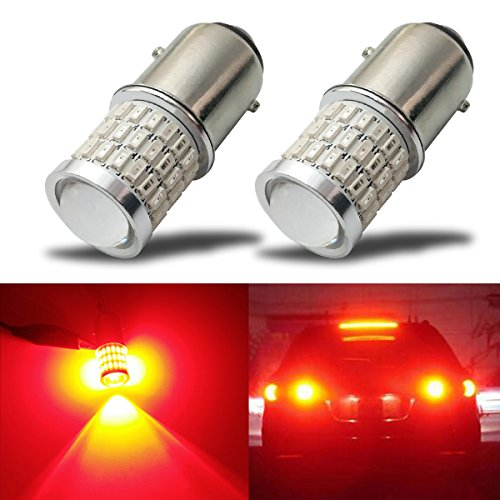(iBrightstar Newest 9-30V Super Bright Low Power 1157 2057 2357 7528 BAY15D LED Bulbs with Projector replacement for Tail Brake Lights,Brilliant)