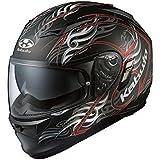 オージーケーカブト(OGK KABUTO)バイクヘルメット フルフェイス KAMUI2 TRIRUG (トライラグ) フラットブラックレッド (サイズ:L)